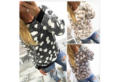 new concept cd850 17354 Damen Pullover Pulli Tunika Shirt Fleece Sweater Longshirt Winter Warmer  Bluse 109JJGSZ5363