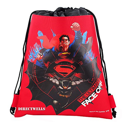 8f98afcbf6e DC Comics Batman Vs Superman Dawn Justice Authentic Licensed Drawstring Bag  Backpack