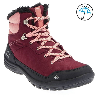 f34d41f9710 Decathlon high outdoor warm hiking boots waterproof non-slip and velvet for  fall/winter hiking shoes