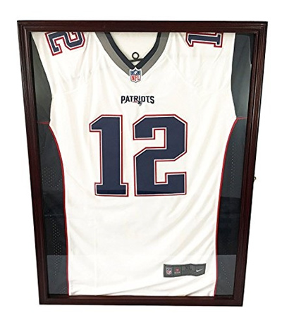 promo code ff7f9 dc170 DECOMIL - ULTRA CLEAR UV Protection Baseball / Football Jersey Frame  Display Case Shadow Box, Cherry