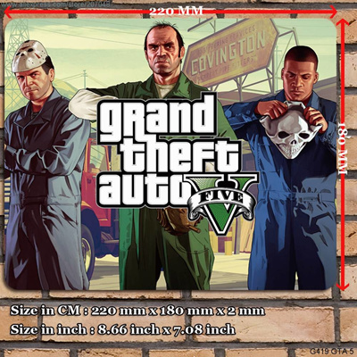 Decoration Place Pad for Game G419 GTA 5 Mouse Mat 22 x 18 x 0 2 cm