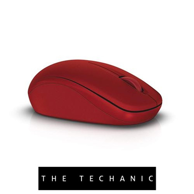 910b328db75 Qoo10 - DELL WM126 OPTICAL WIRELESS MOUSE RED : Computer & Games