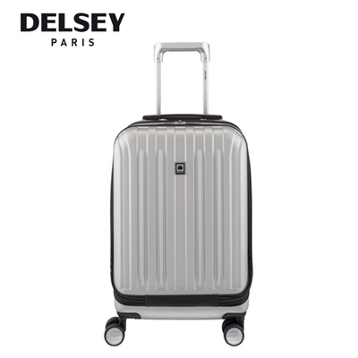 3b220c3c4 Delsey Paris Vavin 55cm/21inch Expandable Travel Luggage With Front Panel  (Silver)