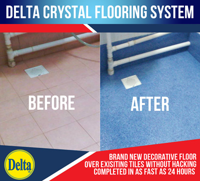 Qoo Delta Crystal Floor Furniture Deco - Anti skid flooring material
