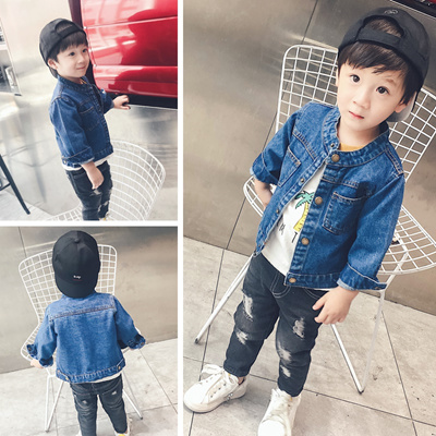 256a3768d Qoo10 - Denim jacket for children with baby boys jacket Cardigan girls  jacket ... : Baby & Maternity