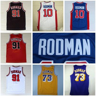 quality design 3fe1e 94ae5 Dennis Rodman 91 Throwback Basketball Jerseys 73 Dennis Rodman Jersey Men'  s Vintage Retro Team C