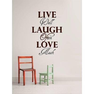 Qoo10 Design With Vinyl Live Laugh Love Home Decor Vinyl Wall