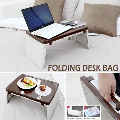 Desk Bag☆Safety Foldable Mini Bed Table☆Kids Child Tea Table☆Anywhere Car