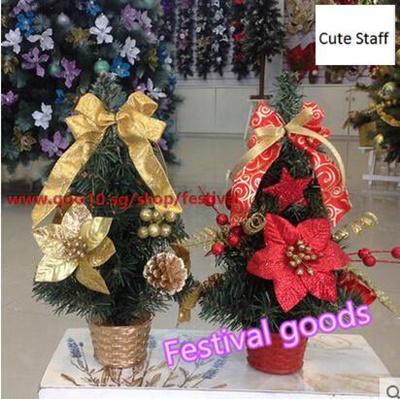 Qoo10 Desktop Christmas Tree Christmas Decorations Desk Checkout