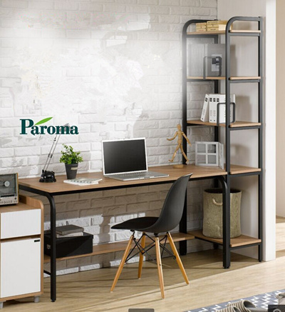 Desktop Home Computer Desk Bookshelf Bookcase Desk Combo Double Simple Modern Desks Writing Desk Des