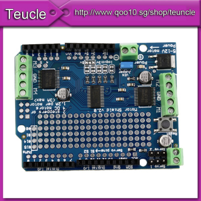 DHL Fast In StockNew Motor/Stepper/Servo/Robot Shield For Arduino v2 with  PWM Driver Shield NEW Whol