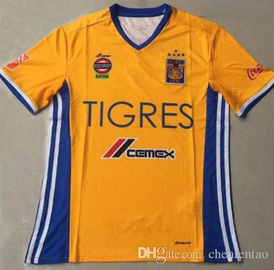 cheap for discount 08c12 b7c1b DHL shipping Tigres UANL 5 Stars soccer jersey thai quality 2016-2017  Mexico club Tigres UANL home y