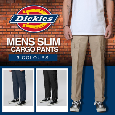 lace up in new lifestyle well known Dickies 594 - Slim Cargo Pants / Available in 3 Colours !! Many Sizes  Available