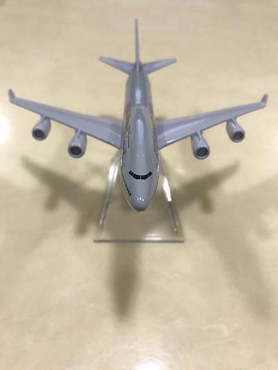 DIECAST METAL BOEING-B747 QATAR AIRWAYS COMMERCIAL AIRPLANE MODEL /  AEROPLANE / AIRCRAFT