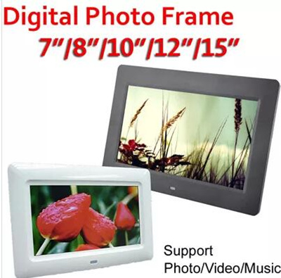 Qoo10 - Digital Photo Frame 7Inch/8Inch/10Inch Support Photo Video ...