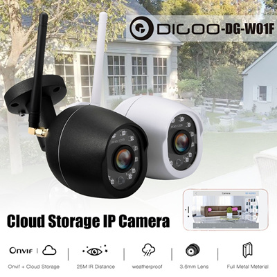 Digoo DG-W01f Waterproof 720P HD Outdoor WIFI Onvif Home Security  Surveillance CCTV IP Camera Monit