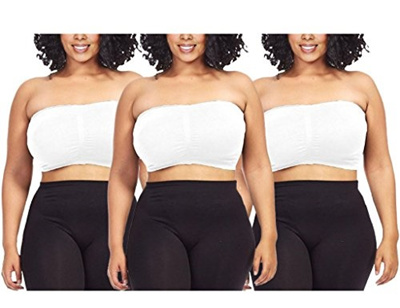 87de596dfbac2 Qoo10 - (Dinamit Jeans) 3-Pack Plus Size Seamless Strapless Bandeau Tube Top  B...   Underwear   Sock.