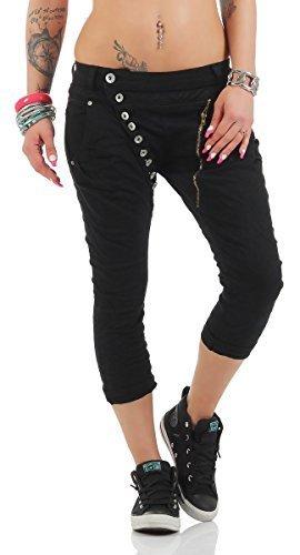Neueste Mode heißer verkauf billig suchen Direct from Germany - 11133 Fashion4Young MOZZAAR Damen Jeans Röhrenjeans  7/8 Haremshose Baggy Über