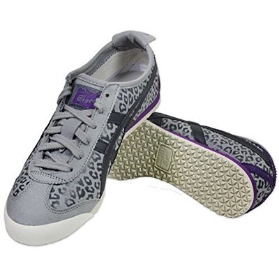 Direct from Germany - ASICS ONITSUKA TIGER MEXICO 66 LEO DAMEN SNEAKER  D46RJ-1316 SCHUHE GRAU LEOPARD