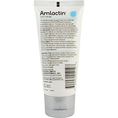 f2ae9e36b3d36 AmLactin Alpha-Hydroxy Therapy Foot Cream to Heal   3 Ounce  B014VVV516
