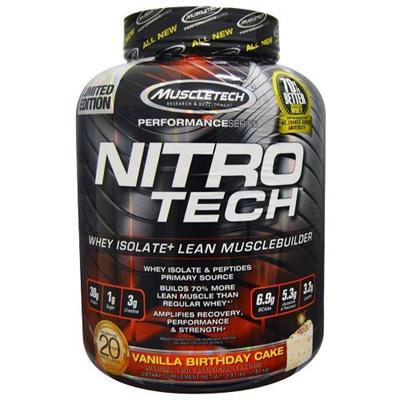 MuscleTech Nitro Tech Protein Powder Vanilla Birthday Cake 4 Pound B00M8V02RA