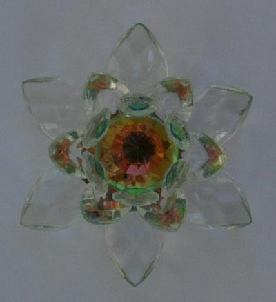 Qoo10 Direct From Usa Rainbow Crystal Lotus Flower Feng Shui