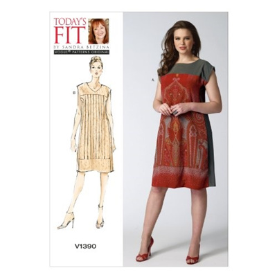 Qoo10 - 【Direct from USA】 Vogue Patterns V1390 Misses Dress Sewing ...