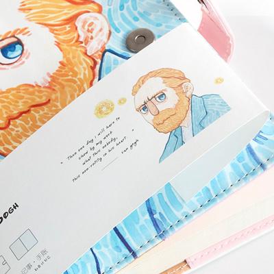 Qoo10 Discount A5 Van Gogh Cute Leather Pocket Bullet Journal