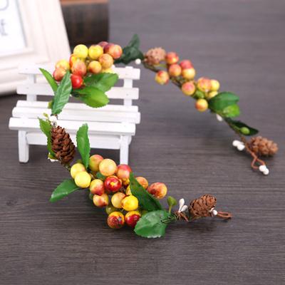 29e466565fe6d discount Haimeikang New Hot Bridal Forest Flower Headband For Women Color  Fruit Wreath Wedding Hair