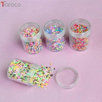 discount TOFOCO 1 Box Slime Clay Sprinkles For Filler Slime DIY Supplies  Candy Fake Cake Dessert Mud