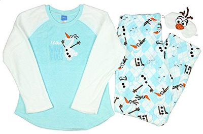 e112fc2e3d Qoo10 - (Disney) Disney Frozen Olaf Women s 3 Piece Plush Fleece Pajama  Gift S...   Kids Fashion