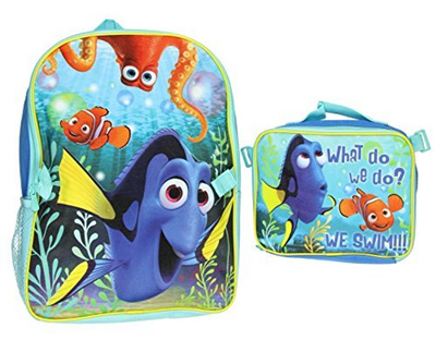 Qoo10 - (Disney) Disney Little Boys Dory Backpack with Lunch Bag (Size One  Siz...   Kids Fashion 0d1eef1844206
