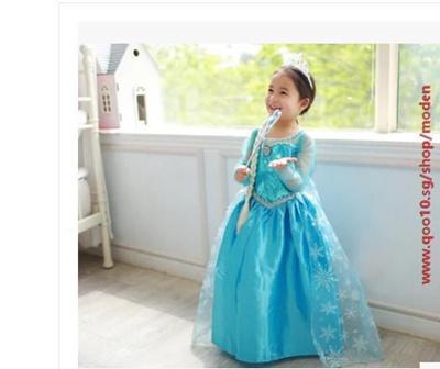 33617e56f Qoo10 - Disney Frozen Elsa Anna PRINCESS Dress! /Queen Elsa and Princess  Anna ... : Kids Fashion