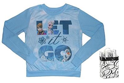 cf296fffdb Disney Frozen Womens Juniors Let It Go Sweater & Bag - 2 Piece Gift Set  (XSmall)