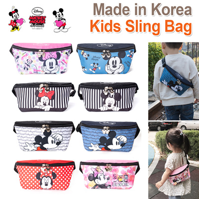 Disney Mickey Minnie Genuine Kids Sling Bag Waist Messenger Bags /Hip Sack  Outing Picnic