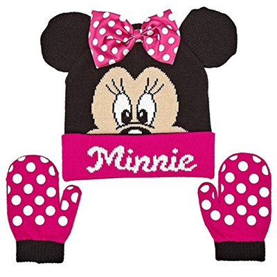 1eade79d0f273 Qoo10 - Disney Minnie Mouse Baby Toddler Girls Winter Hat and Mitten Set    Watch   Jewelry