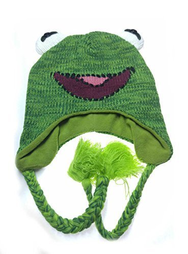 41a073a3e48 Qoo10 - (Disney) Muppets Kermit the Frog Knit Laplander Beanie Hat ...