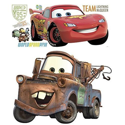 Disney Pixar Cars 2 Lightning McQueen & Mater Peel and Stick Giant Wall  Decal Bundle/ship from USA / Flyingcoco