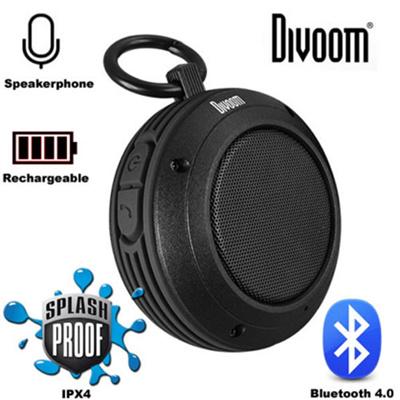 [Divoom][Divoom]Voombox-Travel Bluetooth 4 0 Outdoor Speaker / Rugged  Portable Wireless Speaker /Microphone / Splash /Passive  Radiator/Rechargeable