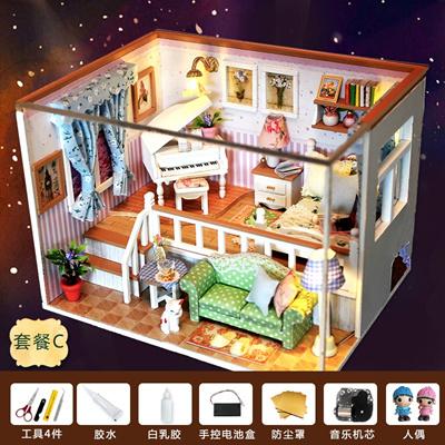 Qoo10 Diy Cabin Handcrafted Assembly Model Of Mini Villa Princess