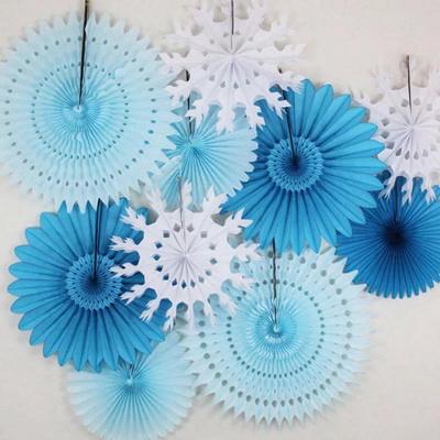 Diy Cut Out Tissue Paper Fan Party Decoration Celebration Decor Pinwheel Crepe Fans