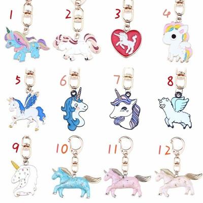 Qoo10 - DIY Cute Animal Keychains Kawaii Rainbow Unicorn Keychain  Rhinestone L...   Women s Clothing 2d3748178