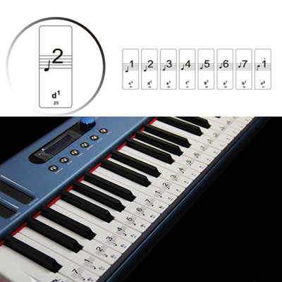DIY Decoration Keyboard or Piano Laminated Sticker Set Kit Educational Toys  88 Keys Removable