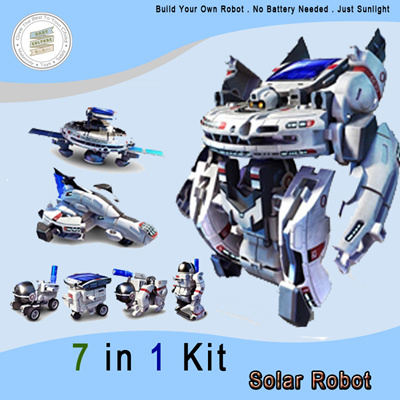 Diy Educational Toy 7 In 1 Solar Robot Kit 7 Different Design To Built Safe Abs Material