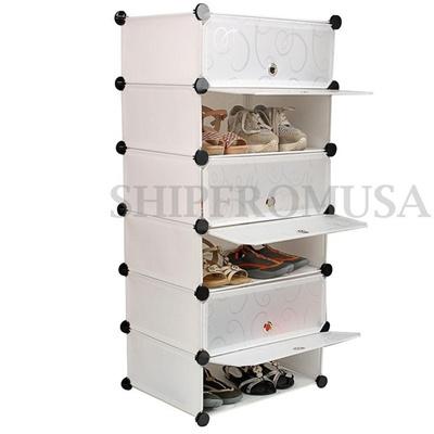 Diy Interlocking Boots Cabinets Shoe Storage Rack Cube Clothing Stand Organizer