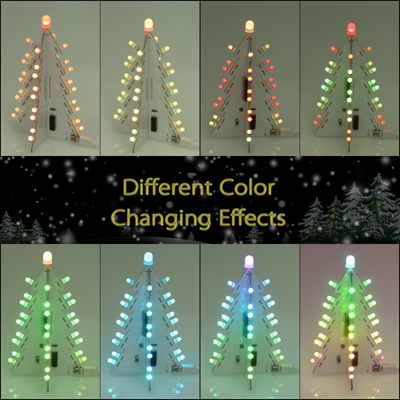 diy light control full color led big size christmas tree decoration with 14 lighting modes electroni