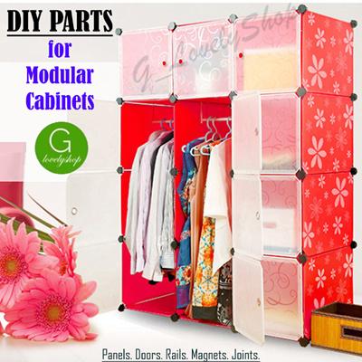 [DIY Parts] Modular Cube Storage System Rack Shelf Wardrobe Book Shelf Shoe  Rack Kids Cabinet