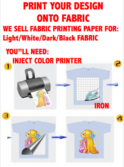graphic regarding Printable Iron on Fabric called Do-it-yourself Printer Warmth Move Paper. T-blouse/Luggage/Material /Crafts. Accessible for gentle and Dim T-blouse.