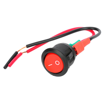 DIY Rocker Switch with Cable for Car vehicle - Red + Black