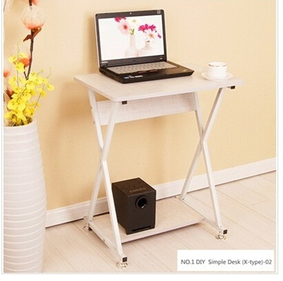 Diy Simple Computer Desk Gdb Stylish N Design Wood Steel Material X Type Legs